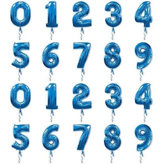 Шар-цифра «BLUE» в ассортименте: букеты цветов на заказ Flowwow
