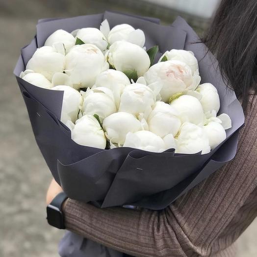 21 пион: букеты цветов на заказ Flowwow