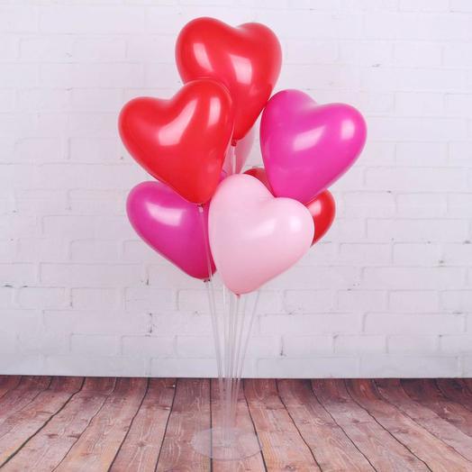 Связка сердец, 7 шт