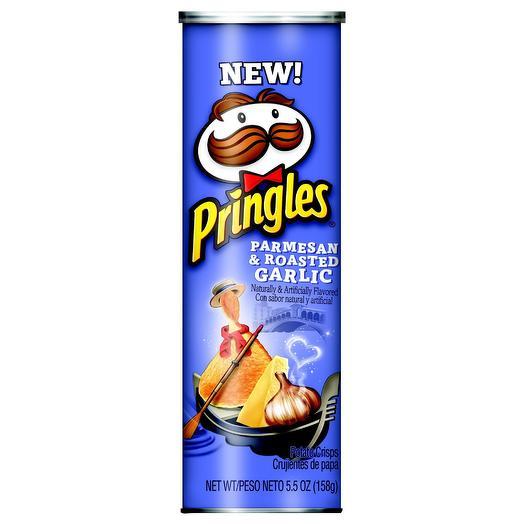 Чипсы Pringles Parmesan   Roasted garlic пармезан и жареный чеснок 158 гр