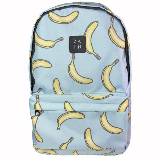 """Рюкзак Z.A.I.N. """"Бананы"""" (голубой)"""