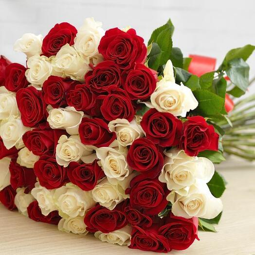 51 элитная эквадорская роза микс (60 см)
