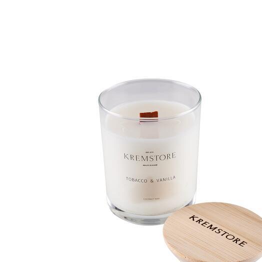 Свеча Tobacco Vanille (табак и специи с ванилью) 250 мл, Kremstore