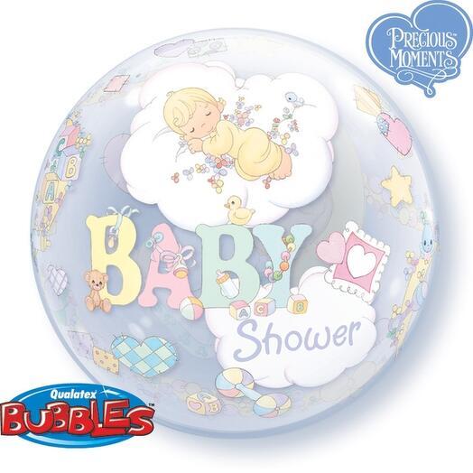 Шар Bubble Baby shower выписка