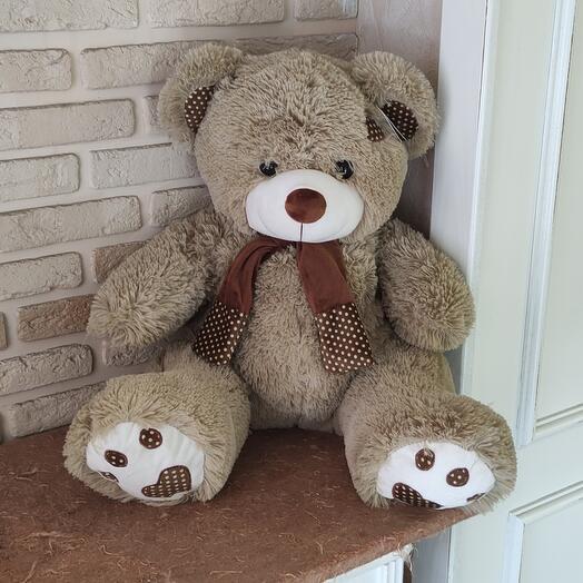 Медведь Тони с шарфом 75 см