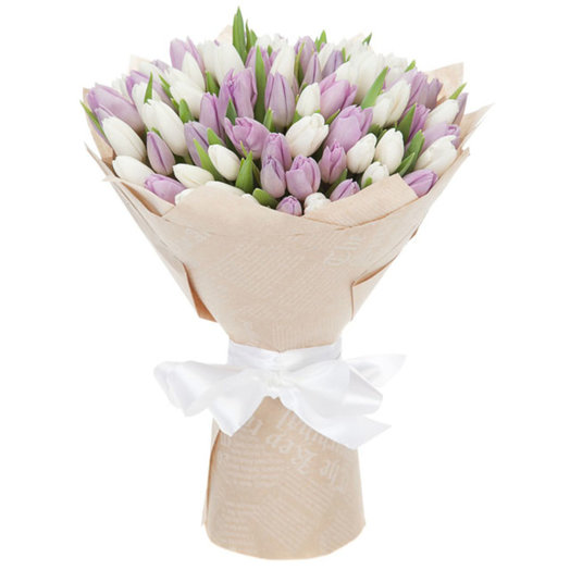 Букет из тюльпанов Французский поцелуй: букеты цветов на заказ Flowwow