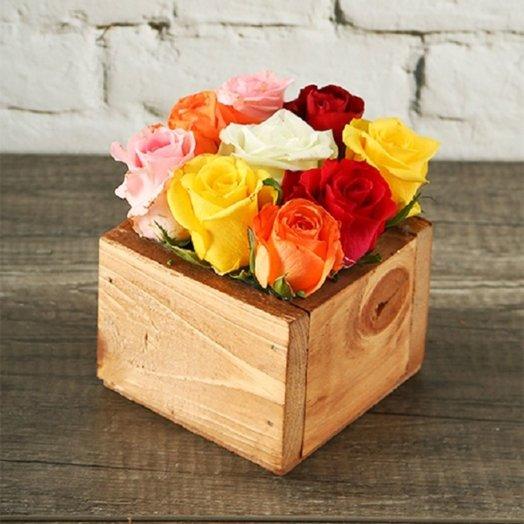 Цветной квадрат: букеты цветов на заказ Flowwow