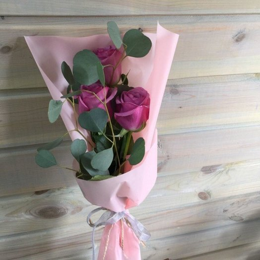 Мини букет из роз