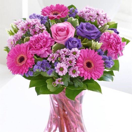 Bouquet in a vase: flowers to order Flowwow