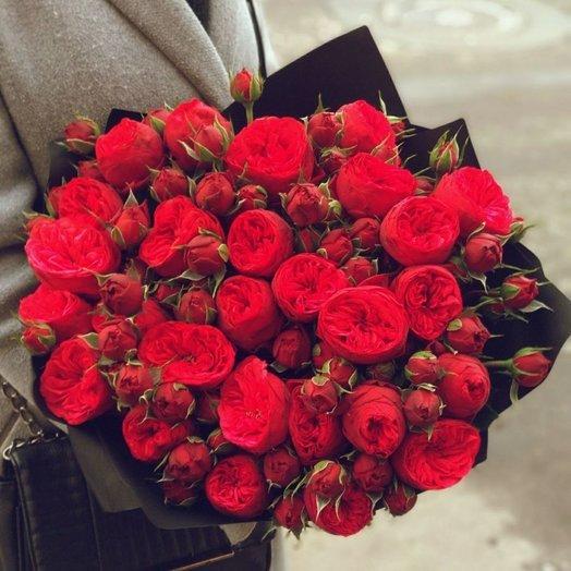 Страстный ред пьяно: букеты цветов на заказ Flowwow