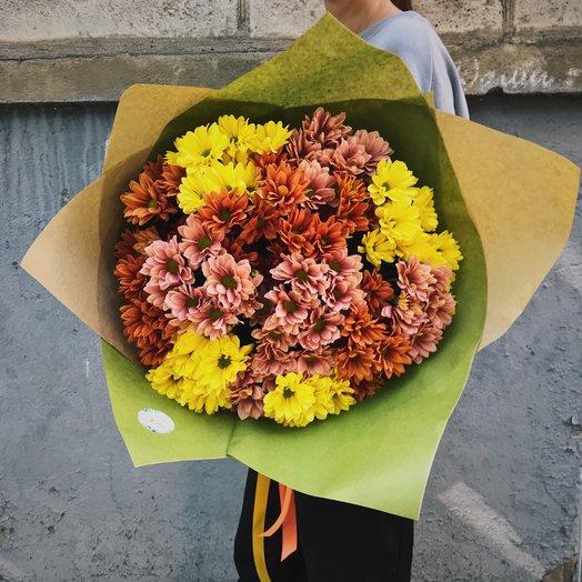 Букет из 15 осенних хризантем: букеты цветов на заказ Flowwow