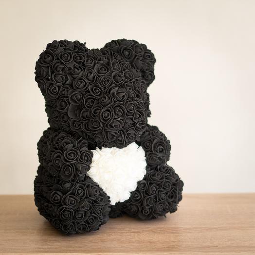 Мишка из 3D роз: букеты цветов на заказ Flowwow