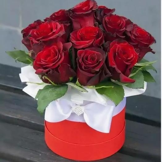 Коробочка 15 роз: букеты цветов на заказ Flowwow