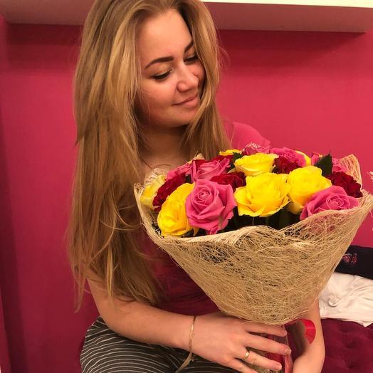 Букет из роз. 29 роз 50 см: букеты цветов на заказ Flowwow
