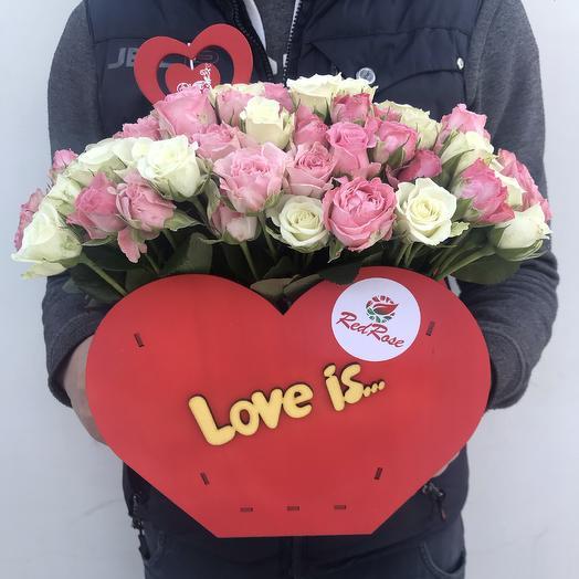 Ты мое сердце Коробочка «love is: букеты цветов на заказ Flowwow