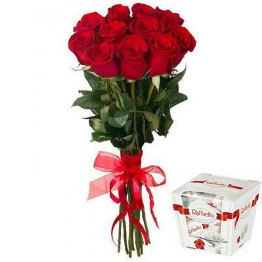 Роза с раффаэло: букеты цветов на заказ Flowwow