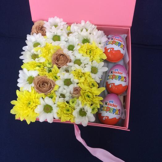 Композиция со сладостями: букеты цветов на заказ Flowwow