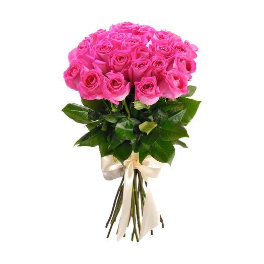 25 розовых роз Эквадор Премиум: букеты цветов на заказ Flowwow