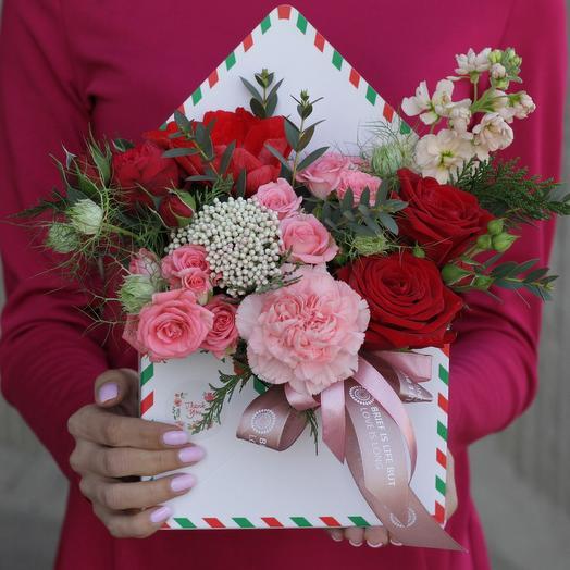Страстное письмо: букеты цветов на заказ Flowwow