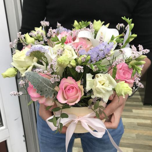 Композиция с лилиями 😍: букеты цветов на заказ Flowwow