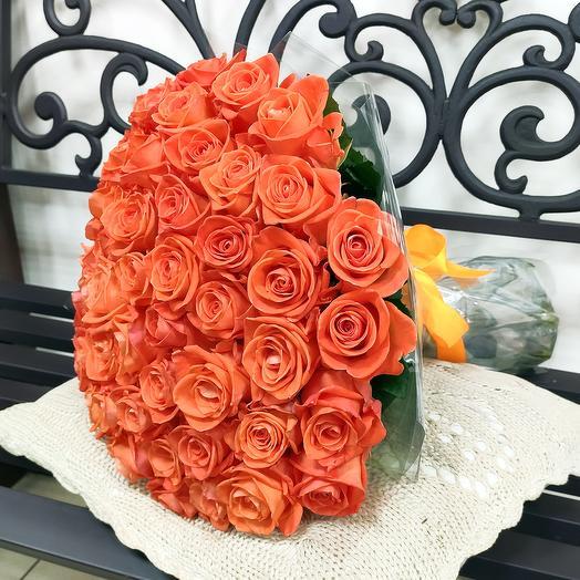 """Букет """"Оранж"""" (51 роза - 50 см)"""