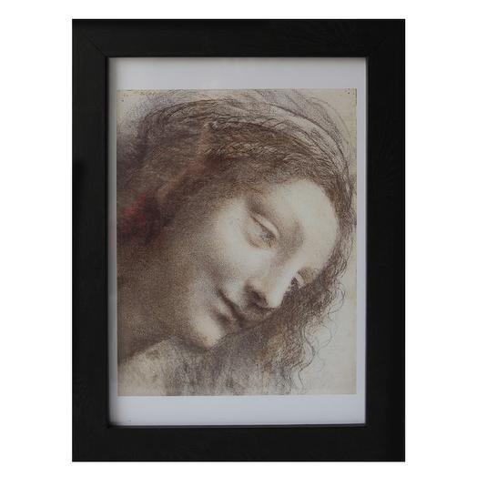Фрагмент картины Леонардо да Винчи в раме из натурального багета: букеты цветов на заказ Flowwow
