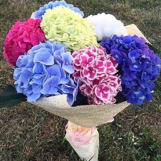 Микс из гортензий 7 шт: букеты цветов на заказ Flowwow