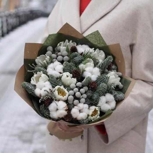 Spruce in the snow: flowers to order Flowwow