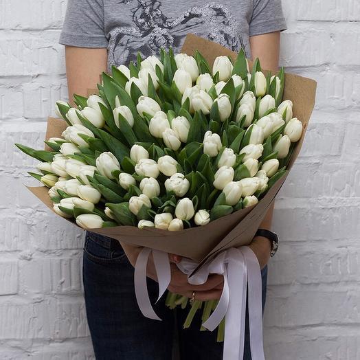 101 white Tulip: flowers to order Flowwow