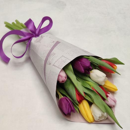 95 букетов по 11 тюльпанов: букеты цветов на заказ Flowwow