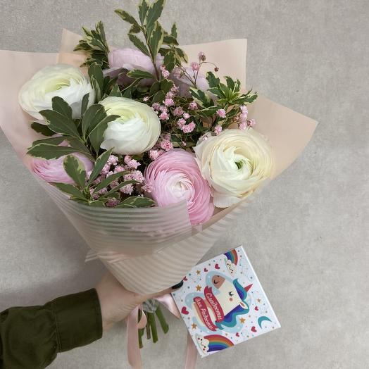 Ранункулюсы для любимой: букеты цветов на заказ Flowwow