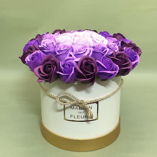 Букет из 37 мыльных роз: букеты цветов на заказ Flowwow