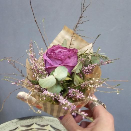Букет Комплимент из Сухоцветов): букеты цветов на заказ Flowwow