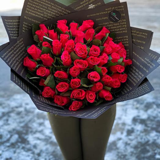 51 малиновая роза