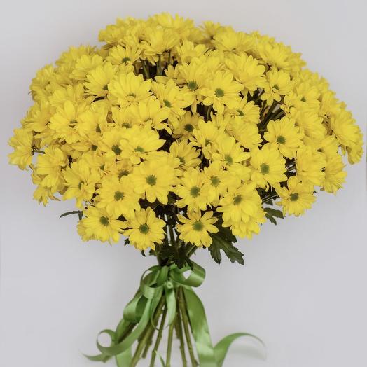 15 хризантем: букеты цветов на заказ Flowwow