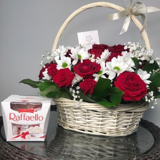 ✅ Корзина с цветами с Рафаэлло