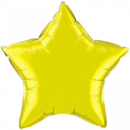 Фольгированный шар желтая звезда