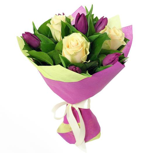 Букет 190 с тюльпанами