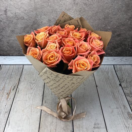 Букет из лососёвых роз