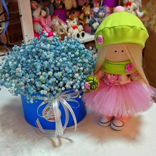 Кукла Мила(ручная работа) и коробочка с облачком