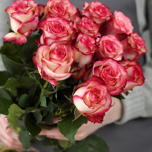 Букет из 15 роз премиум 60 см