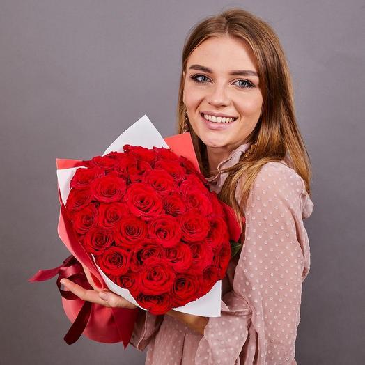 25 роз премиум