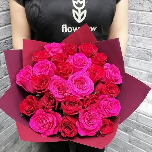 25 VIP Premium Колумбийская роза