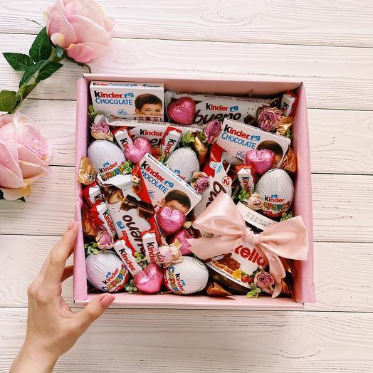 Подарок с киндерами «Girl box»