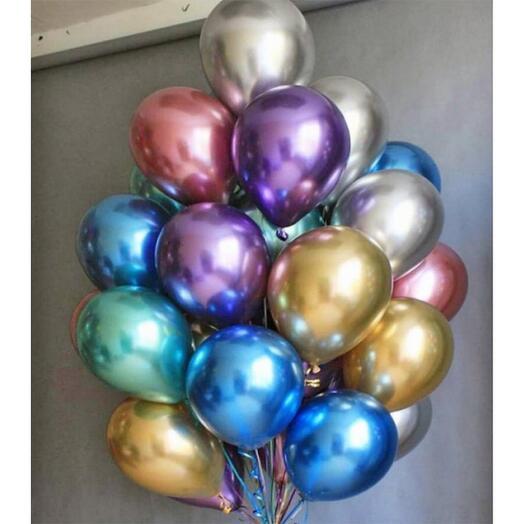 Balloon helium chrome mix (piece by piece)