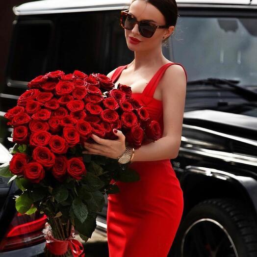 букет красные розы 101 шт