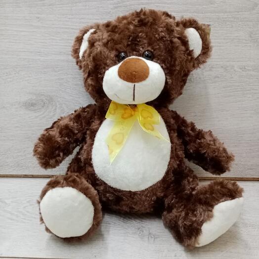 Медвежонок плюшевый с бантом