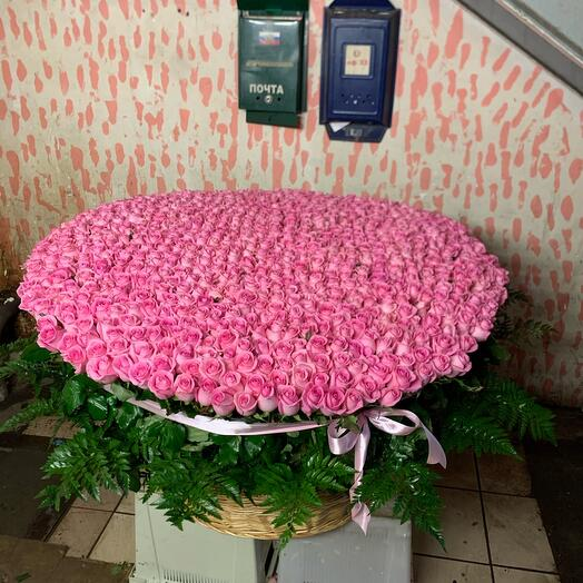 1001 Роза в корзинке 😍
