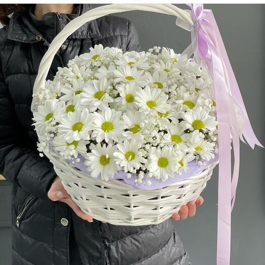 Корзина очаровательной хризантемы