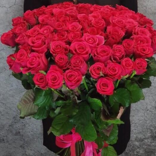 51 малиновая Роза 70см